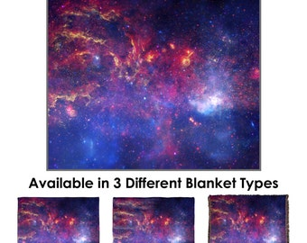 Center of the Milky Way Galaxy Throw Blanket - Standard Multi-color