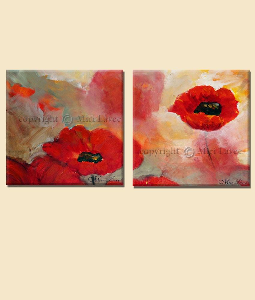 2 piece wall art painting flowers multi canvas art nature. Black Bedroom Furniture Sets. Home Design Ideas