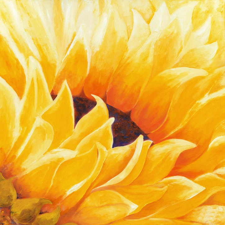 Sunflower Painting Painting Oil Sunflower Wall Art Large