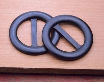 "5pcs buckle charm,60mm(2.36"") black wood buckle craft.large round Wood Belt Buckle finding,wooden belt bag buckle"