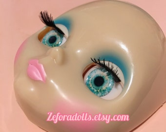 Realistic Light Turquoise Soft Resin Eye Chips For Blythe (14 mm)