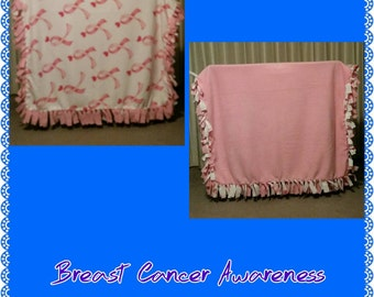 Breast Cancer Awareness Fleece Blanket