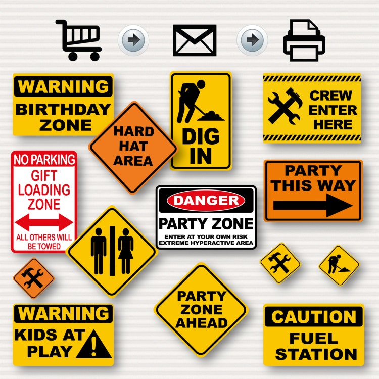 Impeccable image intended for party signs printable
