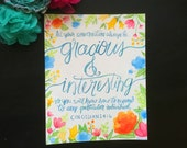 Gracious & Interesting - Colossians 4:6 - 8x10 Watercolor Hand-lettered Printable Scripture