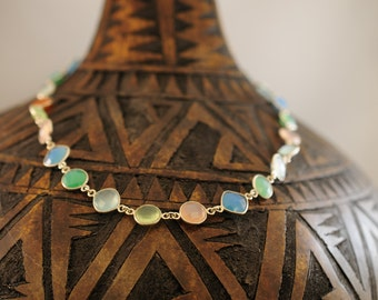 multi coloured all semi precious stones necklace