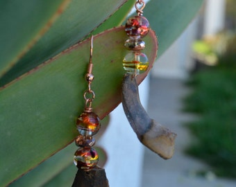 natural pine cone earring dangle