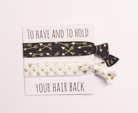 Bridesmiad hair tie favors//hair tie card,bridesmaid gift,party favor, bachelorette party, wedding, bride, gift, i do crew,