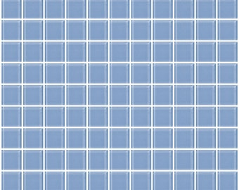1-inch light periwinkle blue glass tile (J1304)