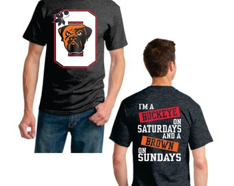 Buckey on Saturday Brown on Sunday - 3 color front/back