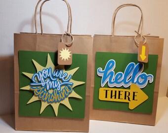 Personalized Gift Bag | Custom Gift Bag | Kraft Bag | Party Bag ...