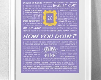 "FRIENDS, ""How You Doin'?"" Typography Print"