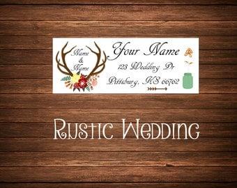 Rustic Wedding Address Labels, Mailing Labels