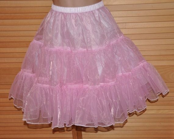 Fluffy baby pink flouncy petticoat for flitting around in, proper Sissy Lingerie