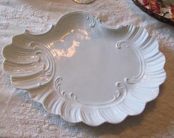WHITE PORCELAIN DRESSER Tray or Platter