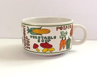 Retro Soup Bowl Mug