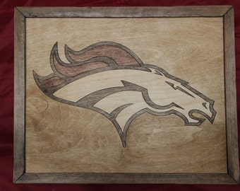 Denver Broncos Wooden Inlay Wall Art