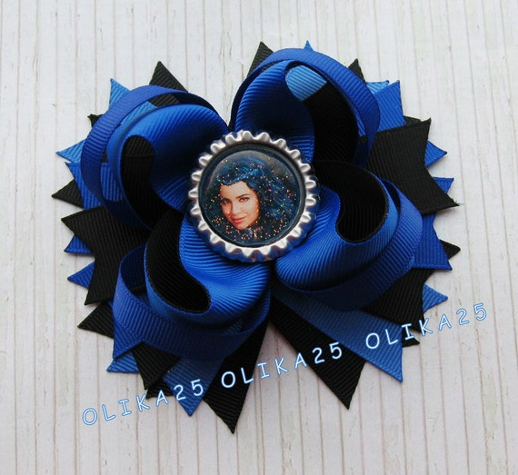 Disney Descendants Evie Inspired Stacked Hair Bow