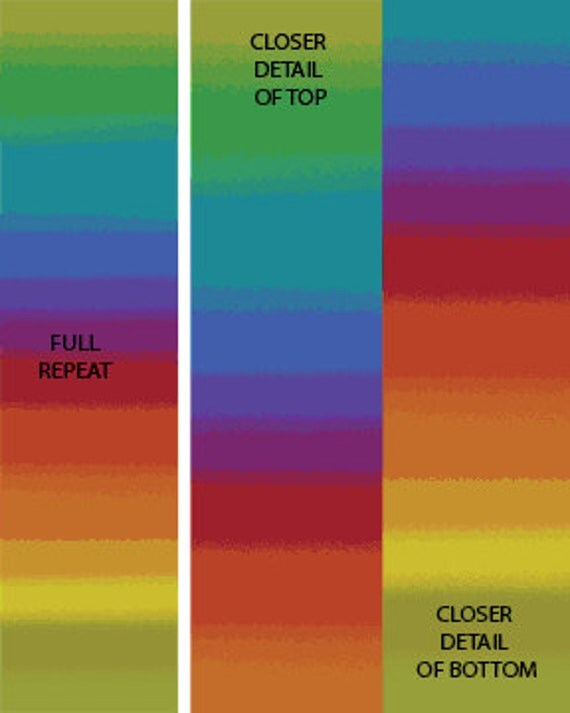 Ombre Rainbow Fabric From The Essentials Gradations Fabric