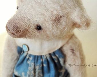 Collectible Teddy Bear Alison, artist teddy bear, teddy bear, stuffed toy, interior doll