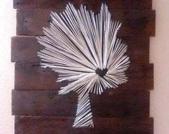 Barnwood String Art- Tree