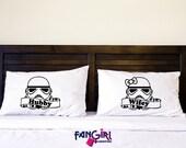 Star Wars. Stormtrooper, Standard Pillowcases. couples pillow cases. Pillowcase Set. His Hers Pillowcase Set. Mr Mrs Pillowcase Set.