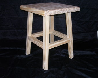 Wood Stool 18 in.