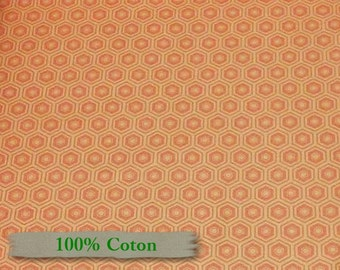 Honeycomb, 2142, Mixology, Camelot Cotton, grapefruit, Multiple quantity cut in one piece, 100% Cotton