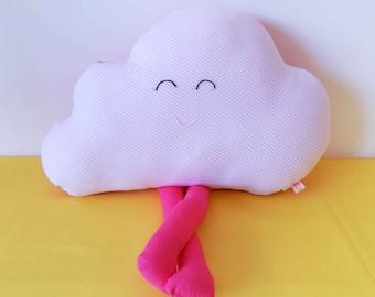 Pink cloud shaped snowman