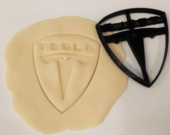 Tesla Logo Inspired Cookie Cutter