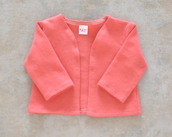 18 inch doll cardigan Color Coral