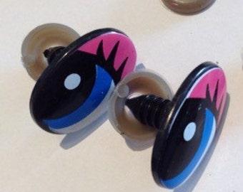 2.5 x 1.5 cm safety cartoon eyes-doll eyes-crochet toys eyes-amigurumi eyes-2.5 x 1.5 cm-toy safety eyes cartoon eyes