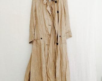 Edwardian Motoring Coat/ Long Linen Coat.