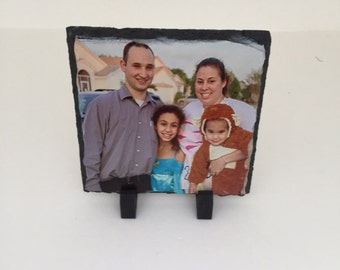 Personalized Slate Picture, any picture. with stand