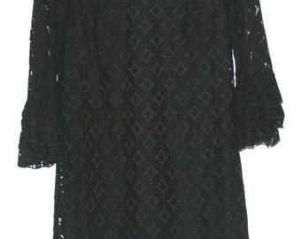 Beautiful Vintage Black Lace Dress