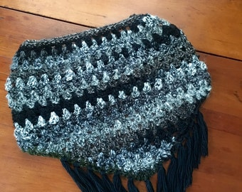 Handmade Triangle Scarf, Attached in the back!
