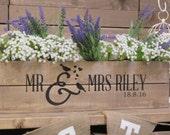 Personalised Rustic Wedding Wooden Table Centrepiece Wooden Wedding Crate Apple Crate Wedding Gift