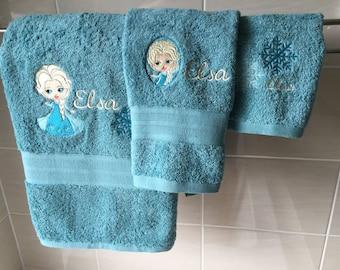 FROZEN ELSA 3 piece towel set