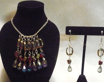 Geometry dreams earring and necklace set (A3)