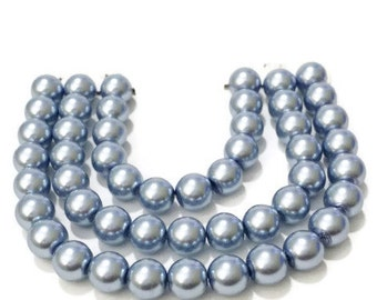 6mm Beads | Violet Glass Pearl Beads | Glass Beads | Jewelry Making | 6mm Glass Beads | Pearl Beads | Glass Pearls | Glass Beads | DIY, p676