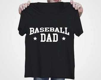Baseball Dad - Men's T-shirt - Best Daddy Gift - Black T-shirt for Him - S - 3XL
