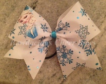 Frozen Themed Cheer Bow