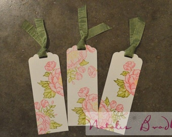 Watercolor Floral Bookmark (ONE bookmark)