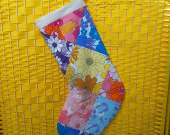 Vintage Patchwork Christmas Stocking