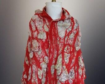 Nuno felt Shawl/scarf/wrap/stole