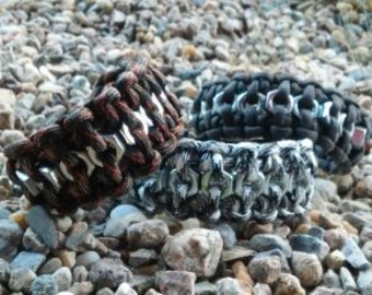 3 for 30 Hex Nut Paracord Bracelet