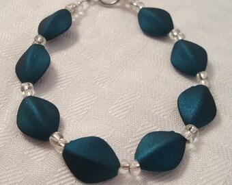 Blue Diamond Bracelet - Women's Blue Bracelet - Women's Bracelet - Blue Bracelet - Blue & Silver Bracelet - Blue - Silver - Bracelet