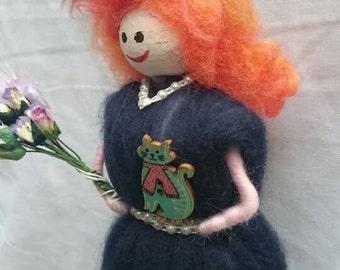Wool Felt Fairy - Night Sky Wool Felt Witch