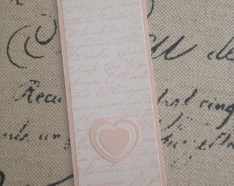 Pink French Script Bookmark