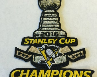 2016 Pittsburgh Penguins Stanley Cup Champions Iron-On Patch