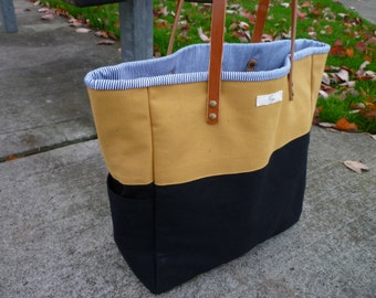 Customizable large denim/canvas tote